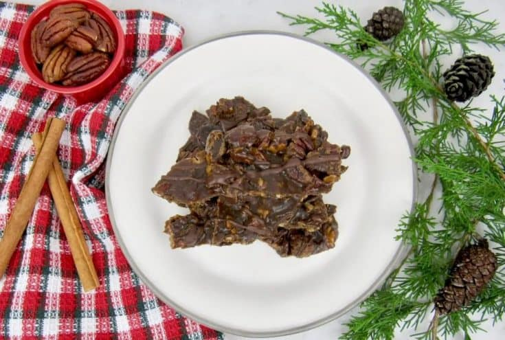 Healthy Pecan Chocolate Bark