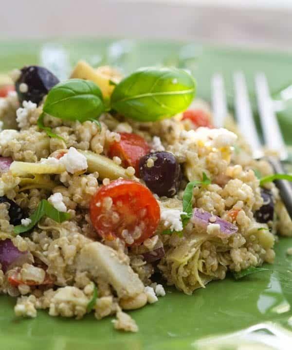 Pesto Artichoke and Quinoa Salad
