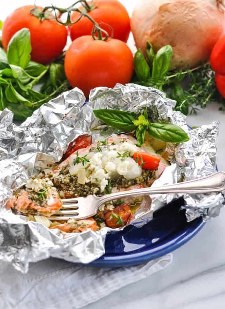 Easy Mediterranean Salmon in Foil