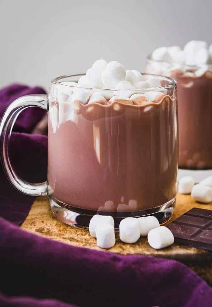 Hot Chocolate with Coconut Milk Powder