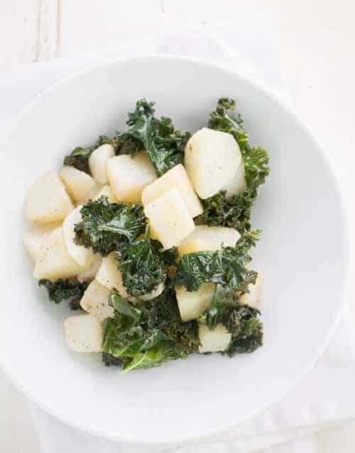 Simple Potato Kale Salad