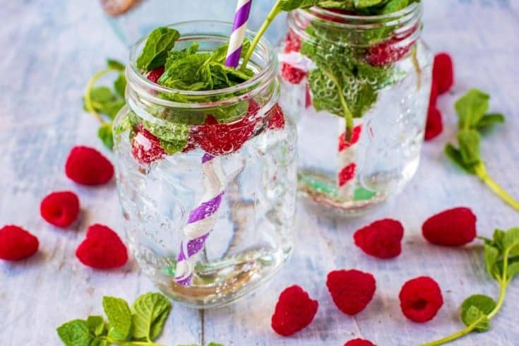 Raspberry and Mint Water