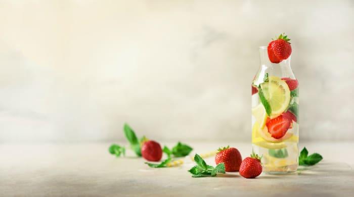 Strawberry Lemon Infused Water