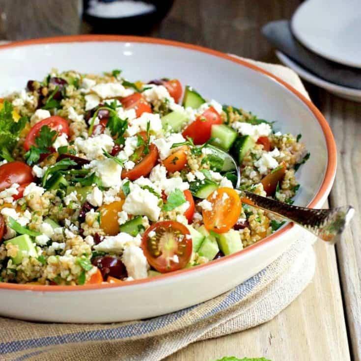 Tabouli Salad and Cheese