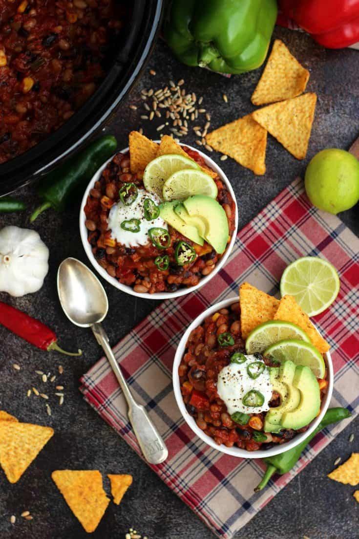 Slow-Cooker Vegan Chili