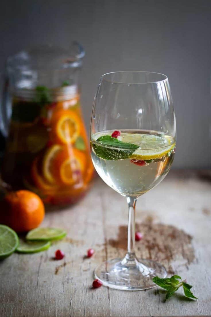 Vinho Verde Citrus and Pomegranate Sangria