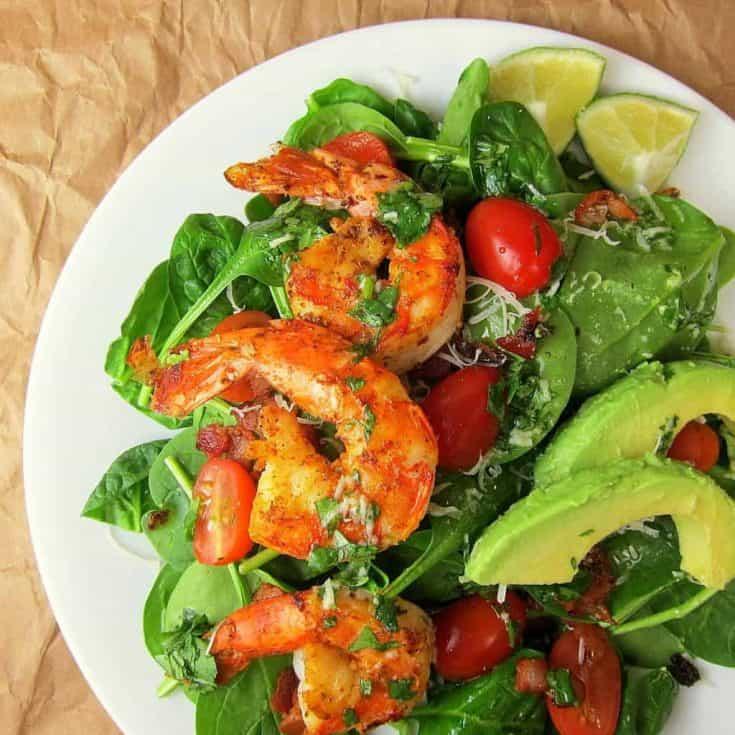 Keto Cajun Shrimp Salad