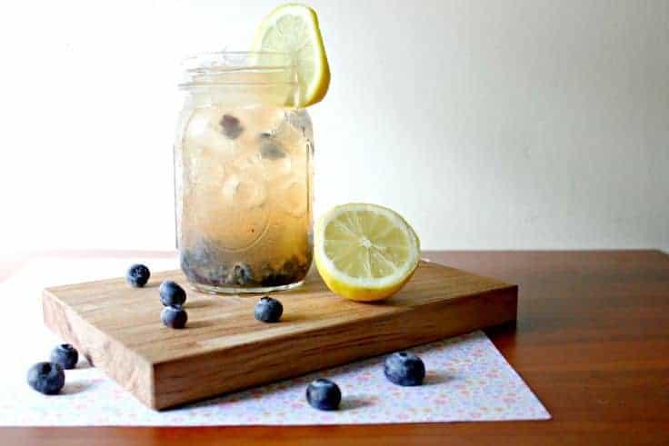 Blueberry Apple Cider Vinegar Detox Drink