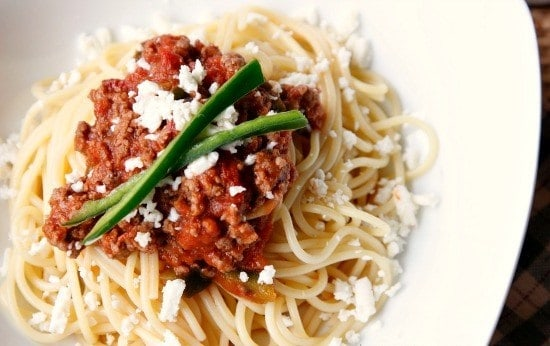Chipotle Spaghetti with Ground Beef