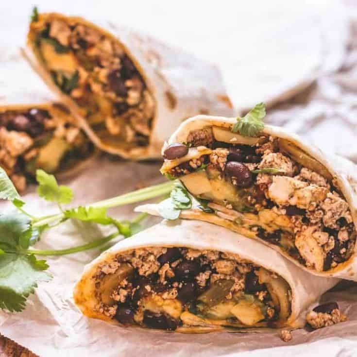 Protein-packed Vegan Burritos