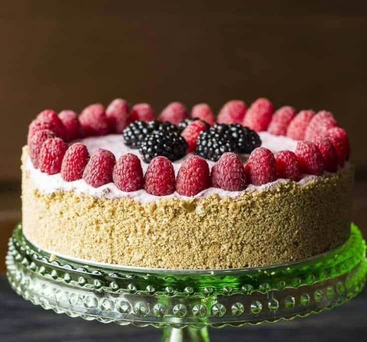 Berry cheesecake with no sugar
