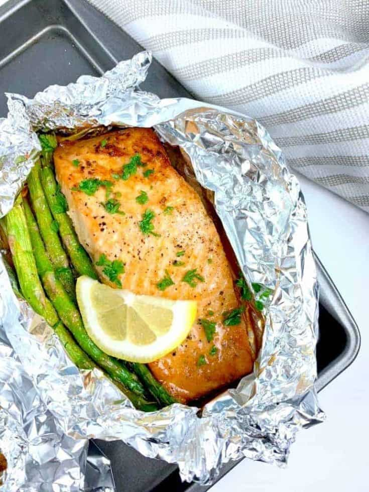Salmon and Asparagus Packet