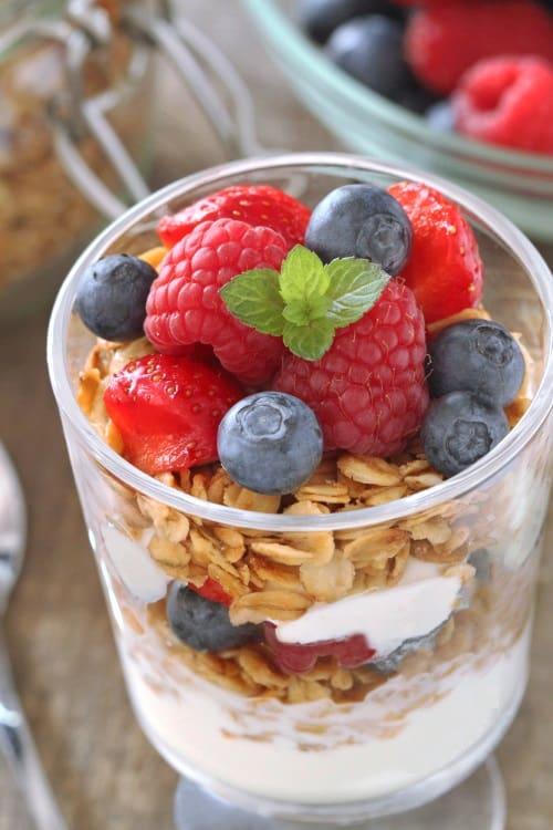 Gluten-free granola parfait