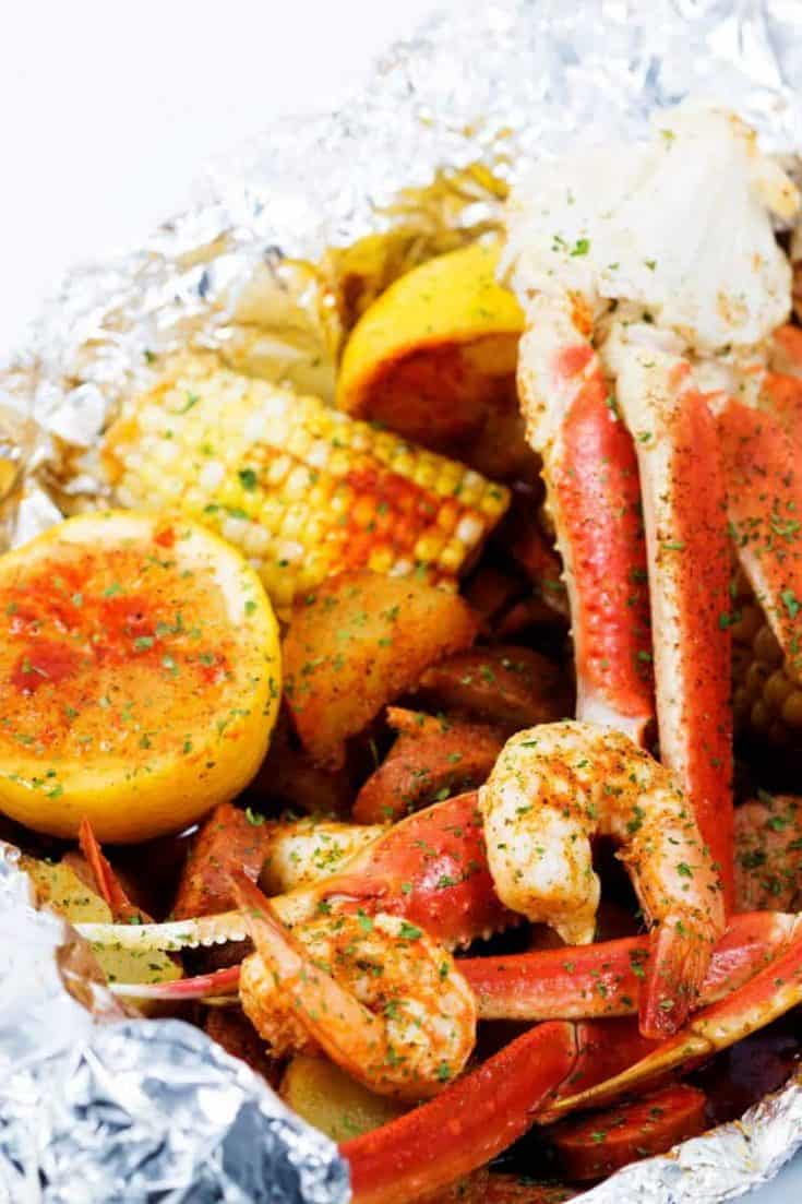Cajun Seafood Broil with Sausages