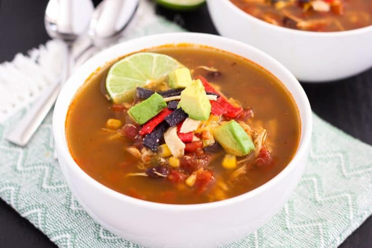 Slow Cooker Chicken Soup with Tortilla