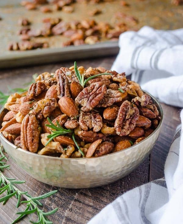 Roasted Nuts with Spices and Maple Syrup