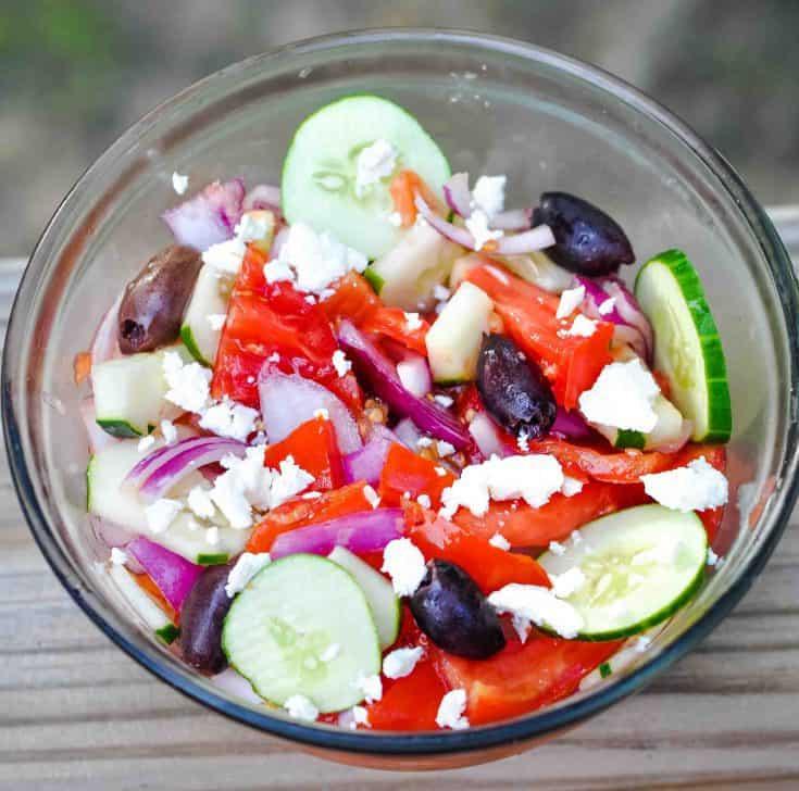 Summer Salad with Lemon-Garlic Dressing