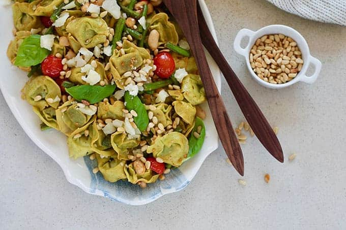 Tortellini Pasta Salad with Beans and Tomatoes