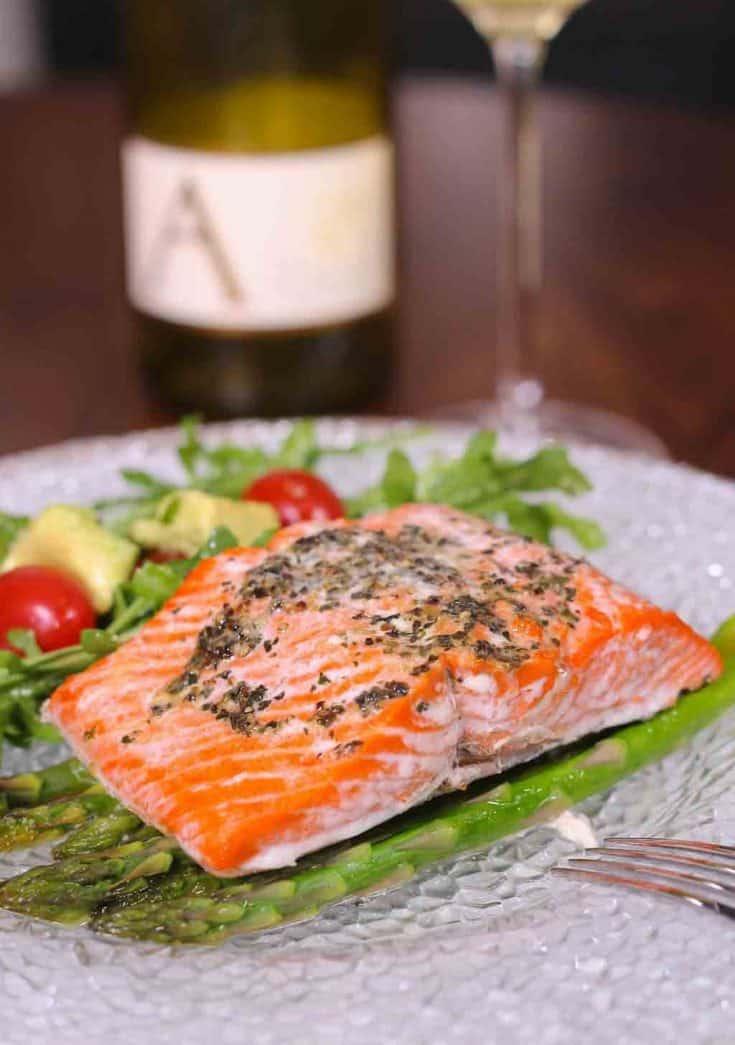 Baked Salmon or Asparagus