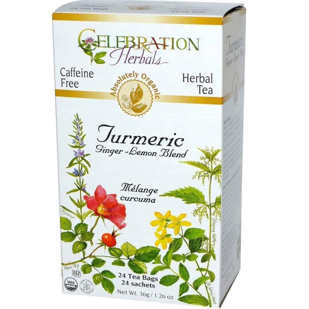 Celebration Herbals Organic Turmeric, Ginger, Lemon