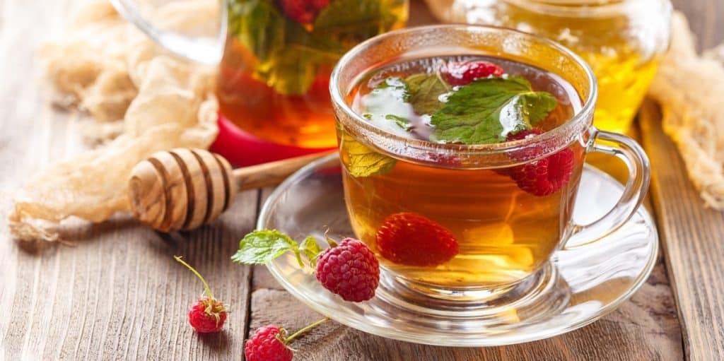 Iced Sage Tea with Raspberry and Honey