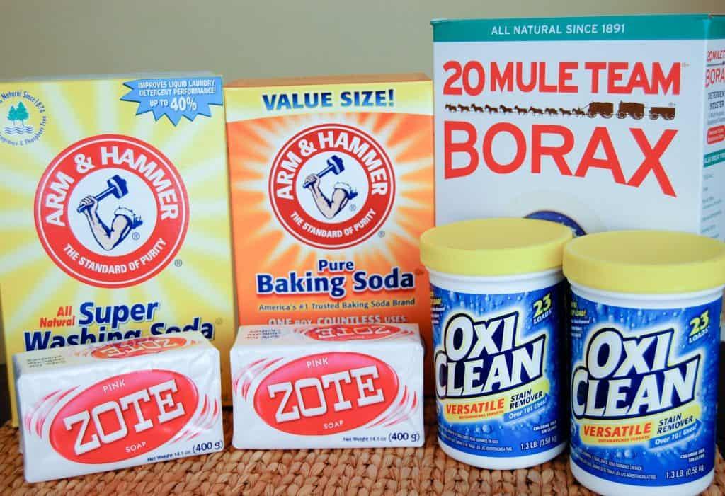 Ingredients to Make DIY Laundry Detergent