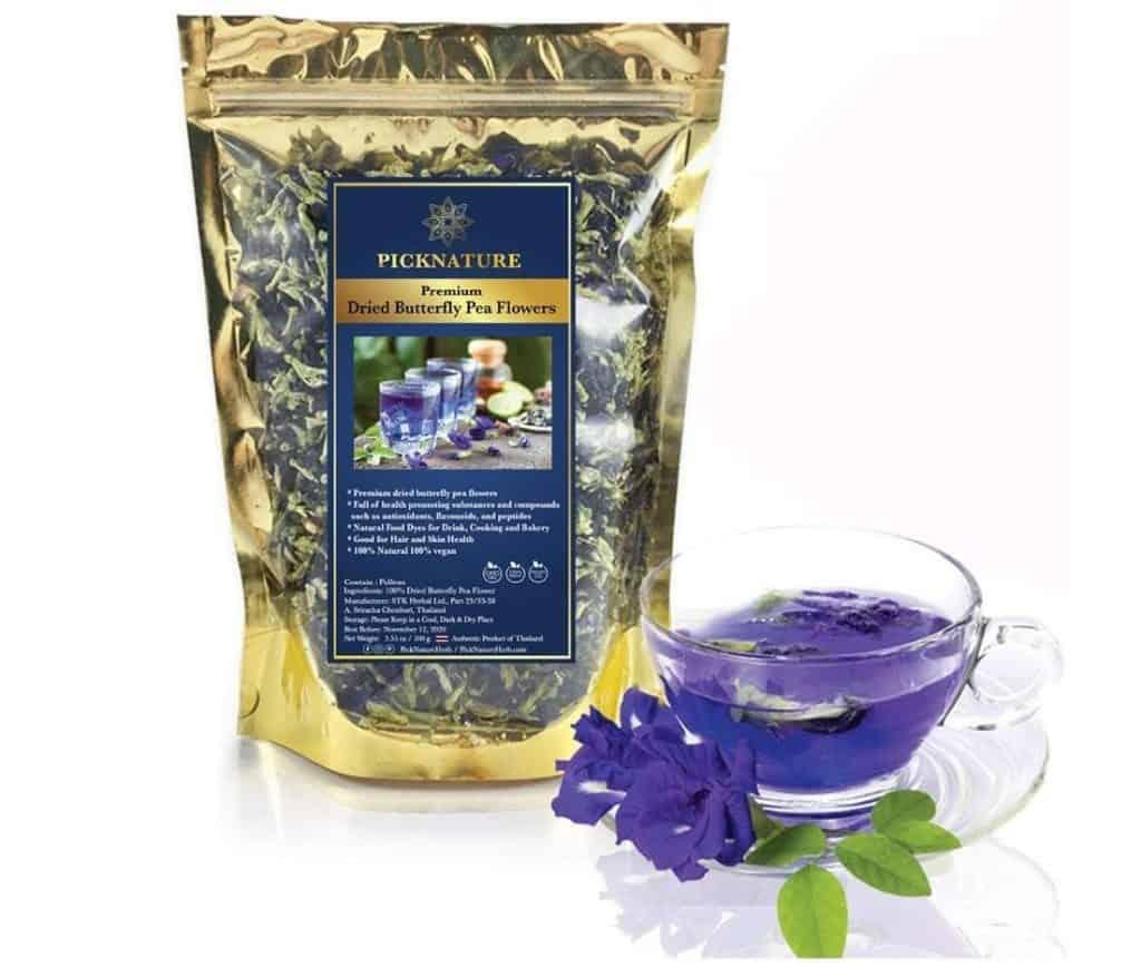 Picknature Thai Butterfly Pea Flower Tea