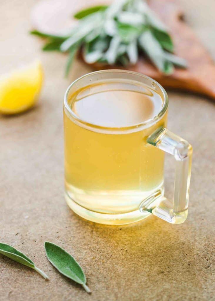 Sage Tea with Lemon