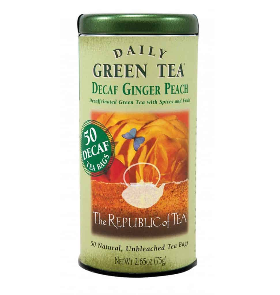 The Republic of Tea Decaf Green Tea (Peach and Ginger)